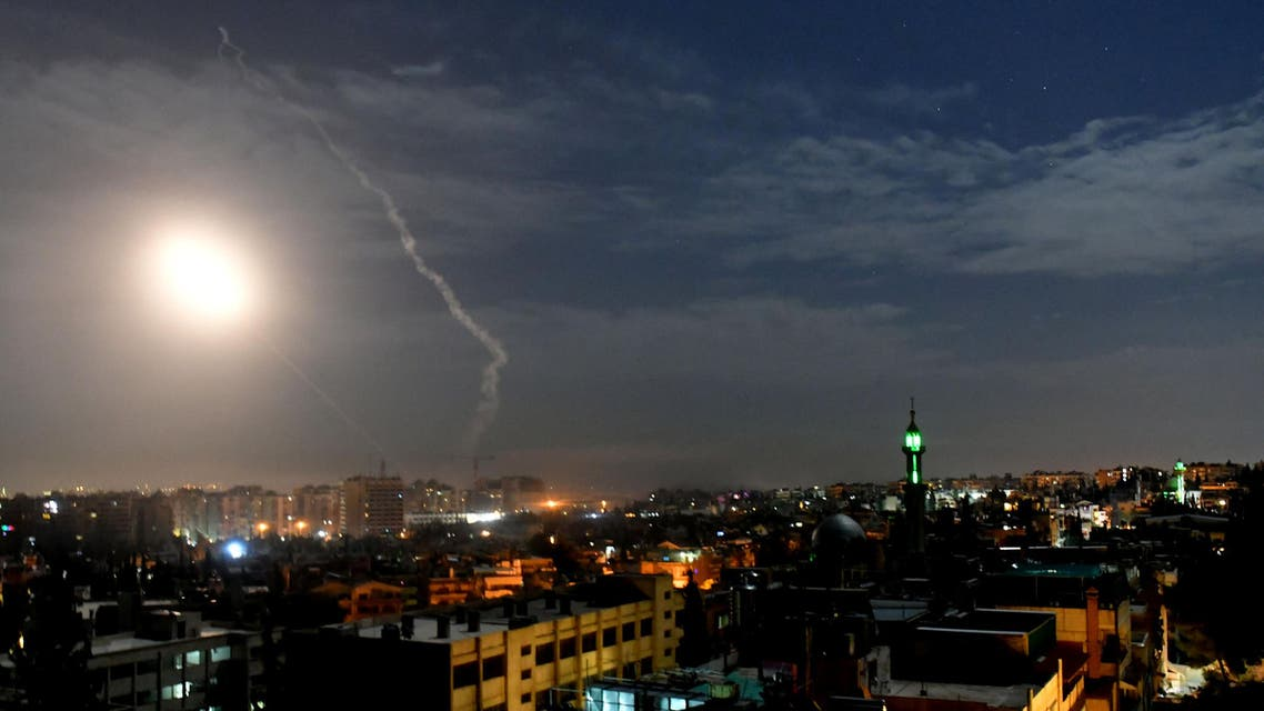 Missile fire is seen over Damascus, Syria January 21, 2019. SANA/Handout via REUTERS ATTENTION EDITORS - THIS IMAGE WAS PROVIDED BY A THIRD PARTY. REUTERS IS UNABLE TO INDEPENDENTLY VERIFY THIS IMAGE