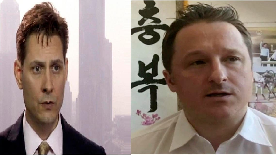 Michael Spavor (L) and Michael Kovrig (R) detained in China. (AP)