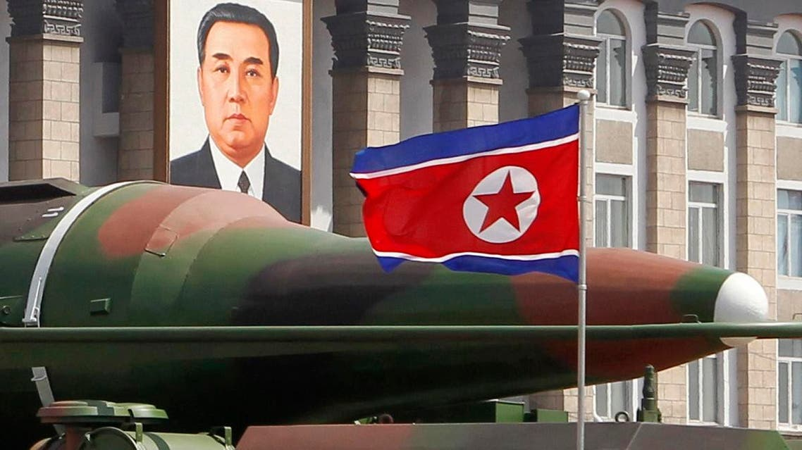 In this photo taken Sunday, April 15, 2012, what appears to be a new missile is carried during a mass military parade at the Kim Il Sung Square in Pyongyang, North Korea, to celebrate the 100th anniversary of the country's founding father Kim Il Sung. (AP)