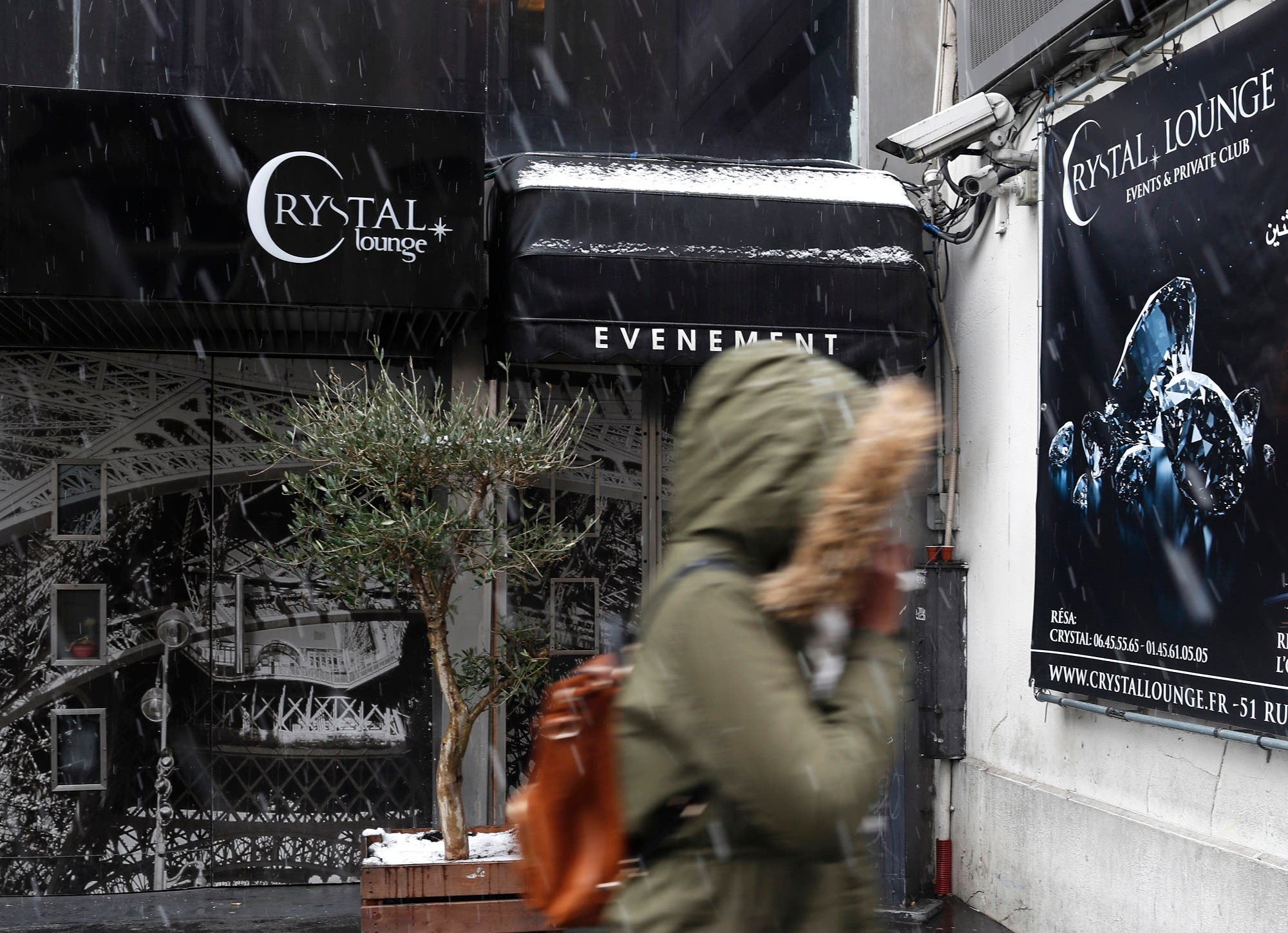 The Crystal Club in Paris, on January 22, 2019, where the woman who filed the complaint said she met Brown and his friends. (AP)