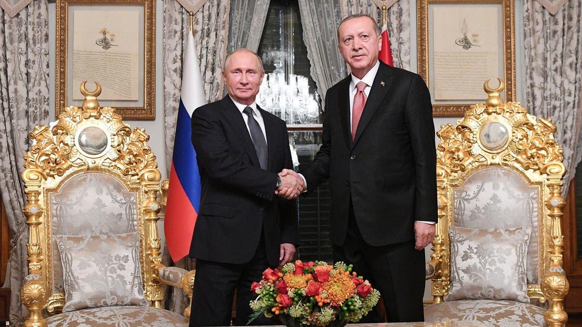لقاء سابق بين الرئيسين التركي والروسي في اسطنبول نوفمبر 2018