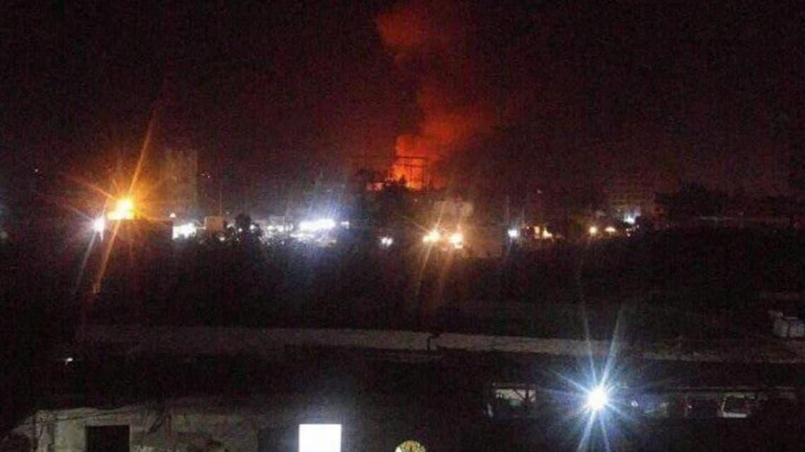 استهداف مخزن أسلحة في صنعاء