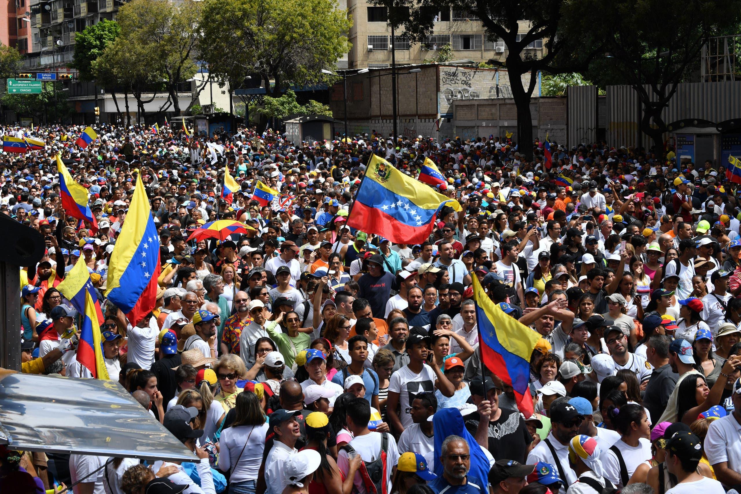 من احتجاجات فنزويلا