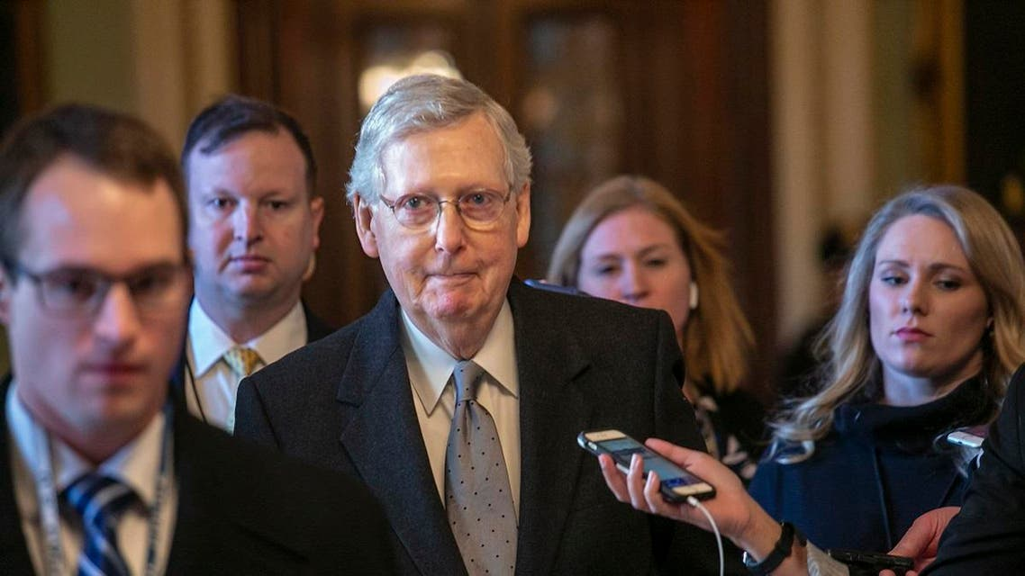 Senate Majority Leader Mitch McConnell, R-Ky. leaves the chamber in Washington. (File photo: AP)