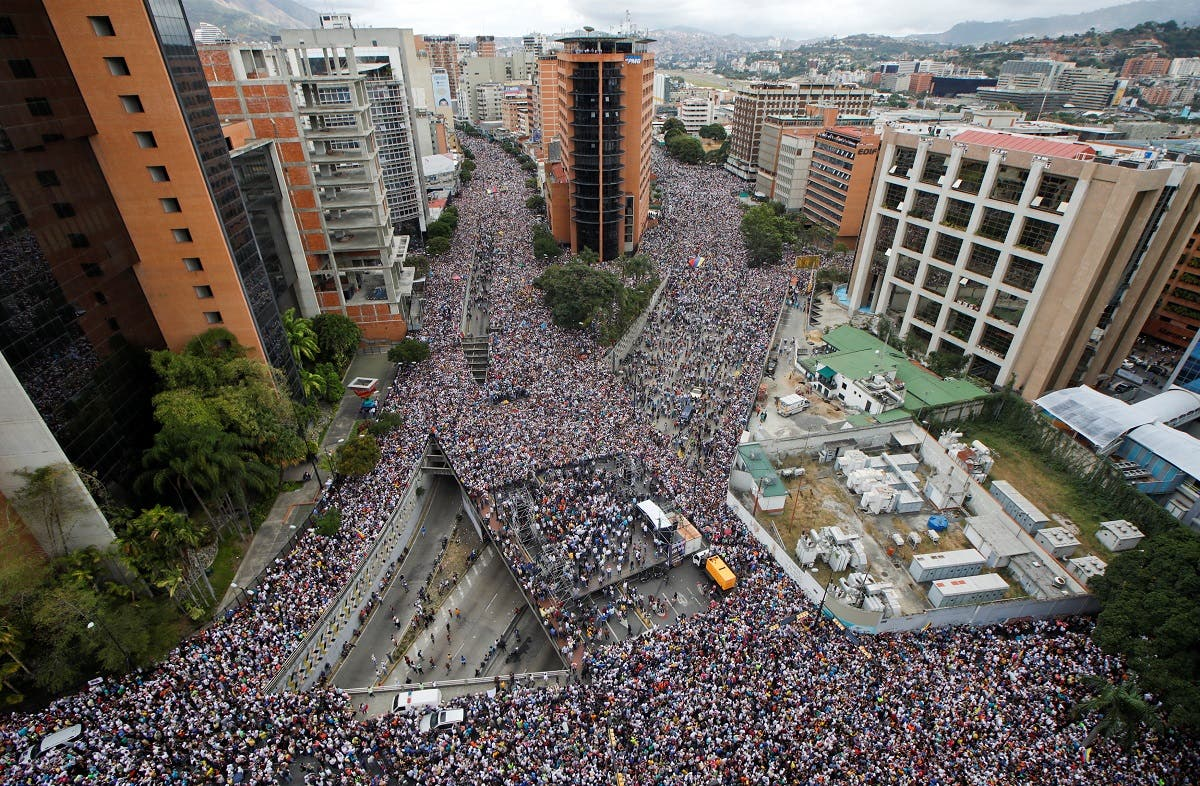 Opposition supporters hold rallies against Venezuelan President Nicolas Maduro's government. (Reuters)