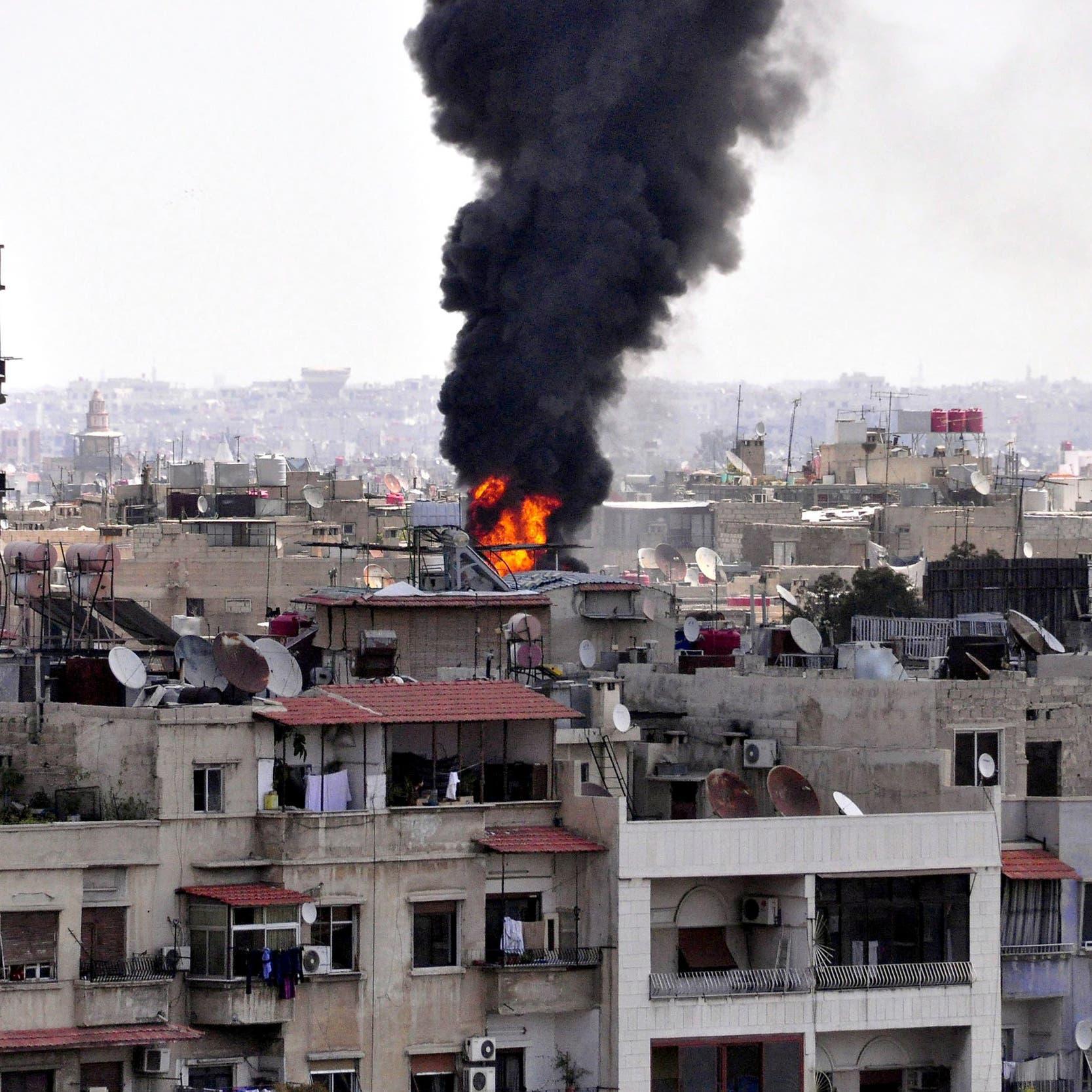 تفجير قرب سفارة روسيا في دمشق