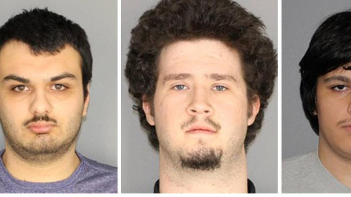 Vincent Vetromile, Brian Colaneri, and Andrew Crysel (L to R) shown in photos provided on January 22, 2019. (Reuters)