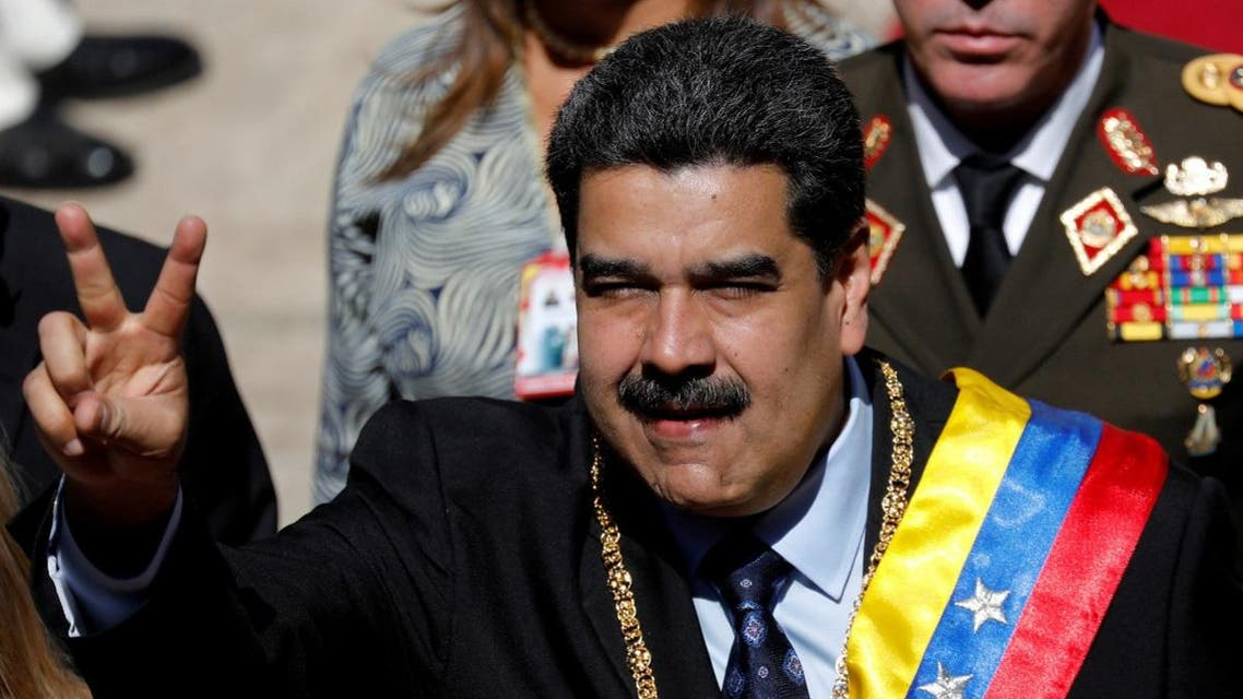 Venezuela's President Nicolas Maduro gestures during the arrival for a special session of the National Constituent Assembly to present his annual state of the nation in Caracas. (Reuters)