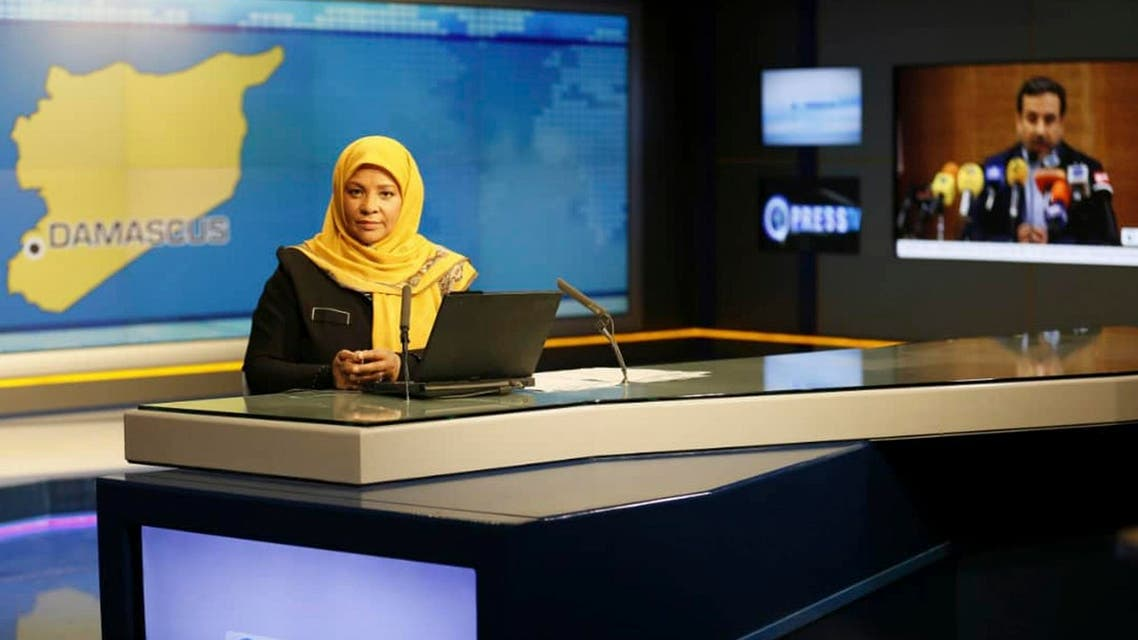 This undated photo provided by Press TV shows Marzieh Hashemi at studio in Tehran. (Press TV via AP)