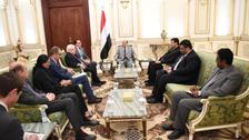 یمنی صدر کی یو این مبصرین سے ملاقاتیں، سویڈن معاہدہ سے متعلق انتباہ