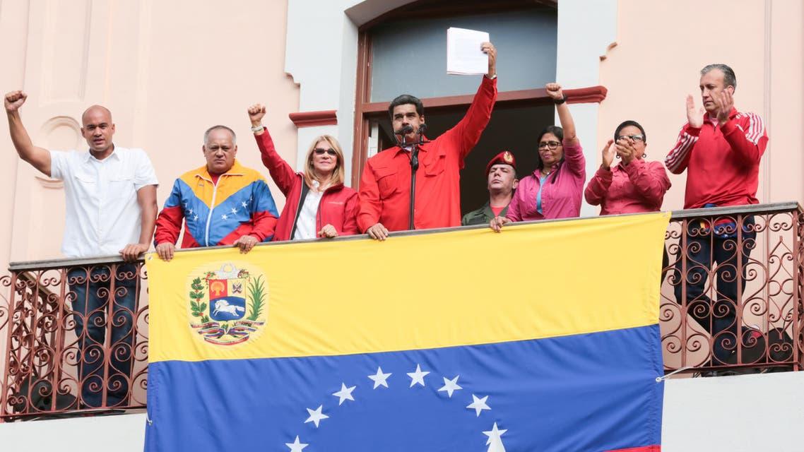 الرئيس الفنزويلي نيكولاس مادورو في كراكاس الأربعاء