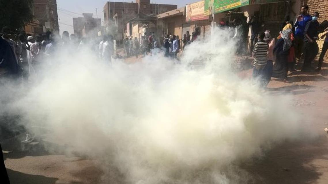 sudan tear gas afp