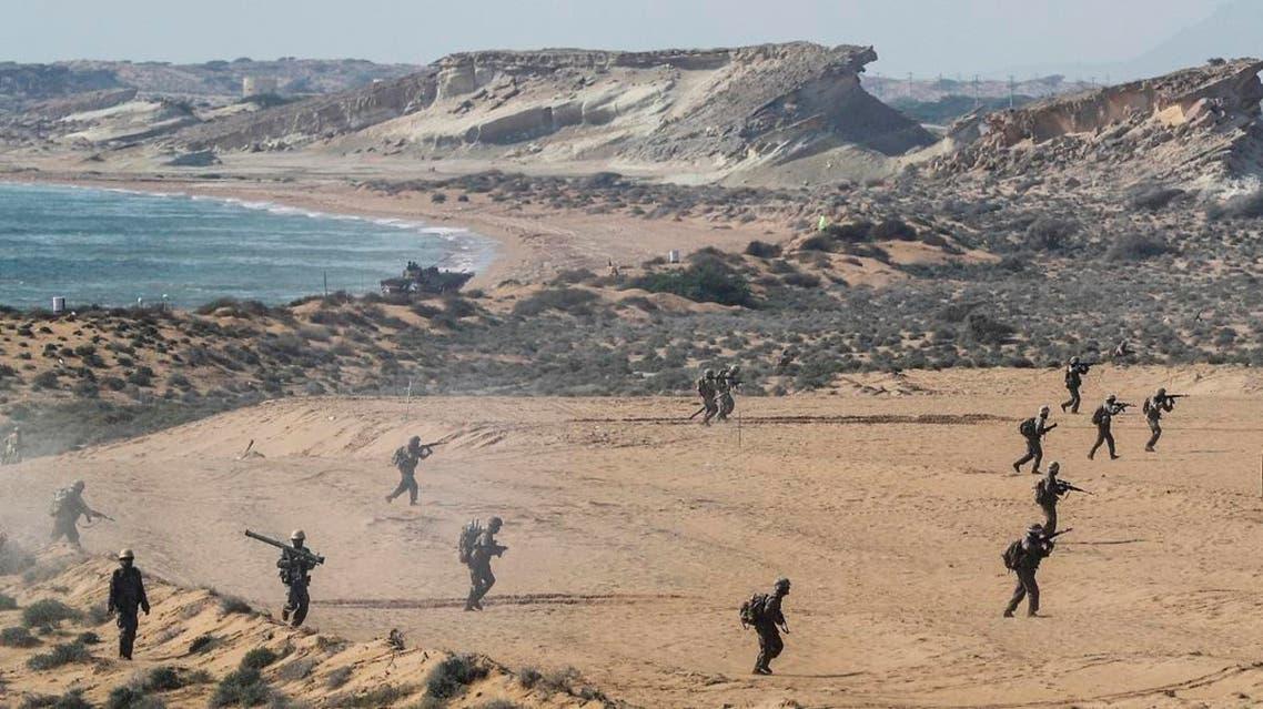 Iran military drill (AP)