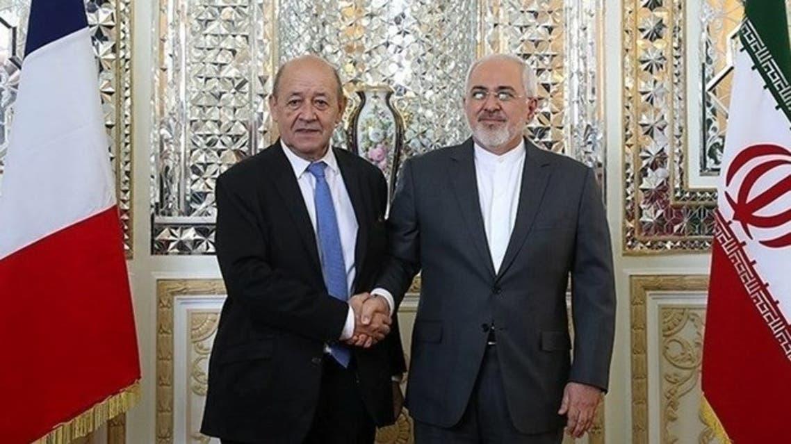 وزير  خارجية فرنسا ونظيره الإيراني
