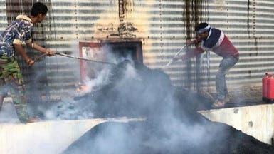 الحديدة.. ميليشيا الحوثي تعاود قصف مطاحن البحر الأحمر