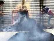 الحديدة.. قصف حوثي يحرق طعام الجياع داخل مطاحن البحر الأحمر