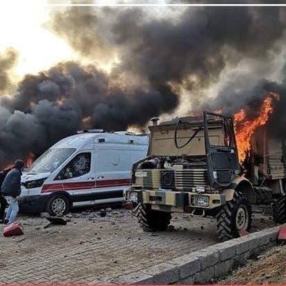 متظاهرون يحرقون معسكرا تركيا في كردستان العراق