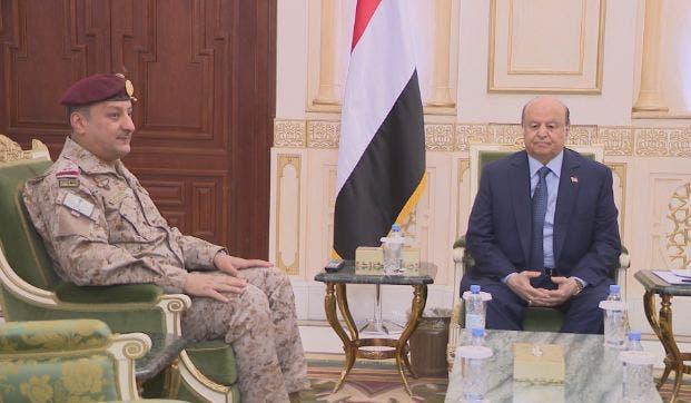 الر\يس اليمني وقائد القوات المشتركة