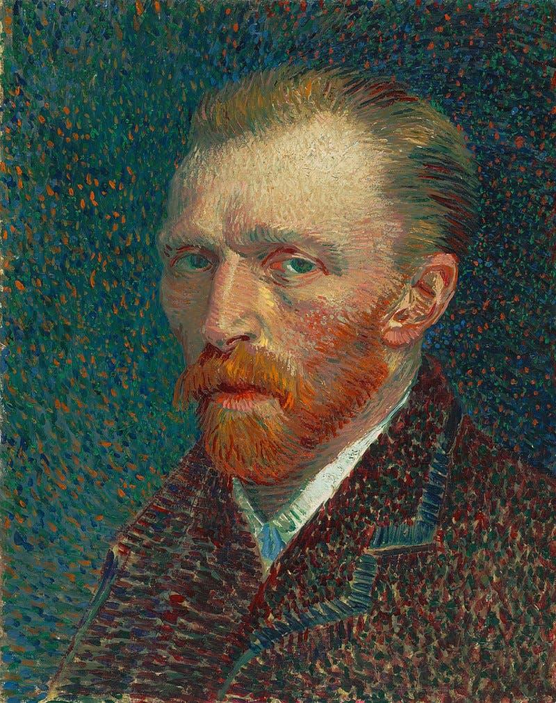لوحة فنية رسم خلالها فان غوخ نفسه سنة 1887