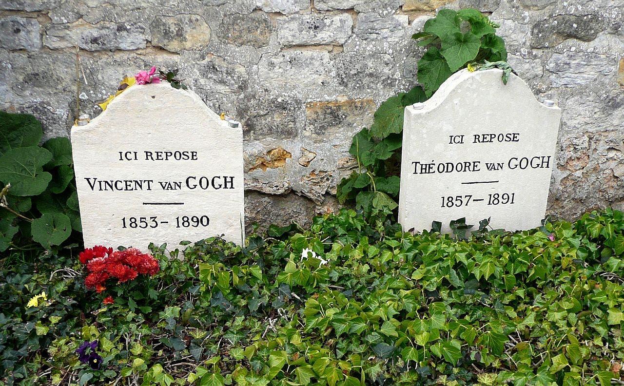 صورة لقبري فنسنت فان غوخ وشقيقه ثيو بمقبرة أوفير سور ويز