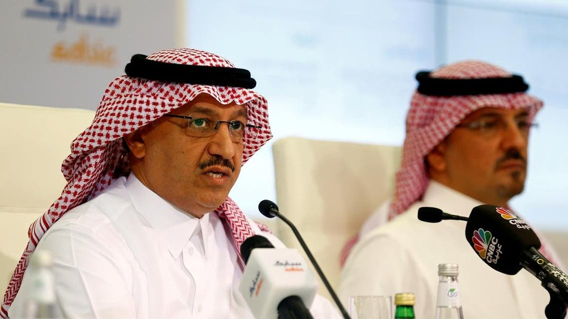 SABIC Vice Chairman and Chief Executive Officer Yousef Abdullah al-Benyan speaks during a press conference held in the SABIC HQ in Riyadh. (File photo: Reuters)