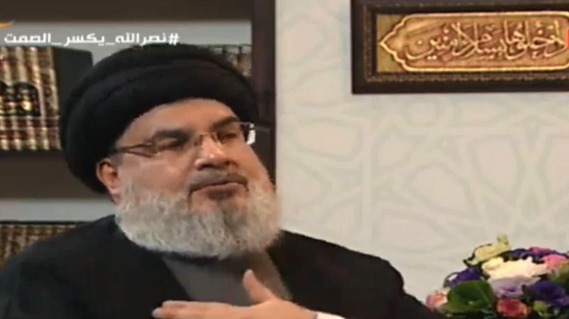 Hassan Nasrallah presser. (AFP)