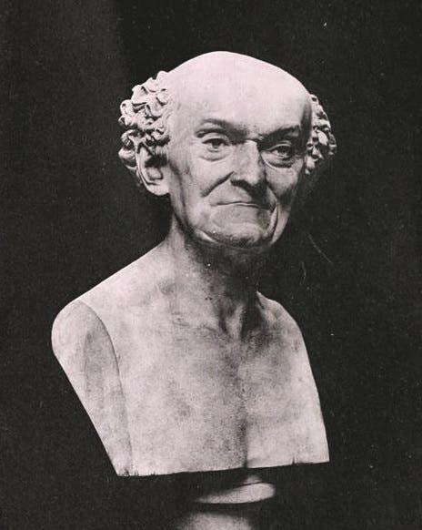 تمثال نصفي لعالم النباتات الفرنسي جوزيف دومبي