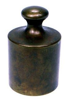 صورة لوحدة قياس grave أصلية يعود تاريخها لسنة 1793