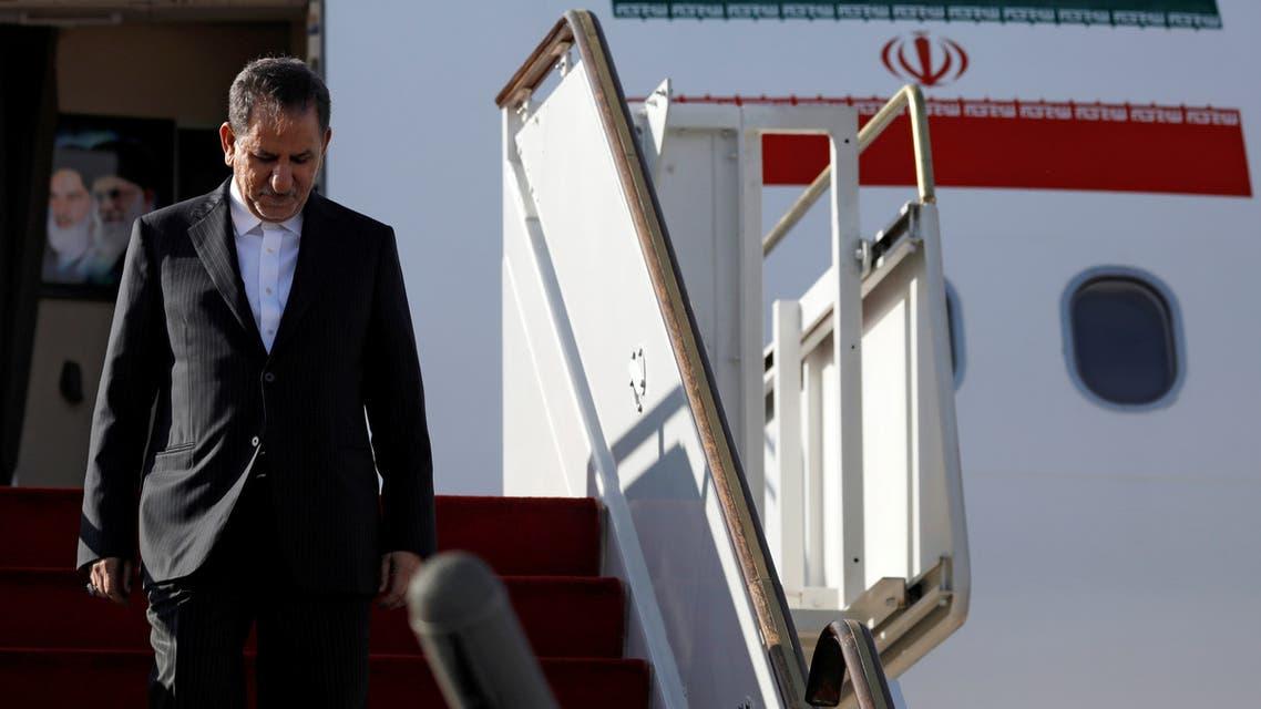 نائب الرئيس الإيراني إسحاق جهانجيري يصل إلى مطار دمشق الدولي الاثنين