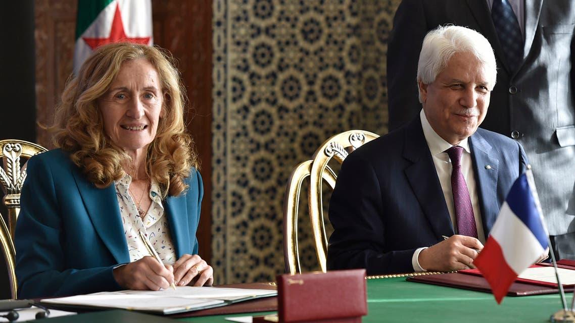 وزير العدل الجزائري، الطيب لوح، ونظيرته الفرنسية، نيكول بيلوبيه في الجزائر