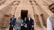 French President Macron and his wife tour Egypt's historic temples