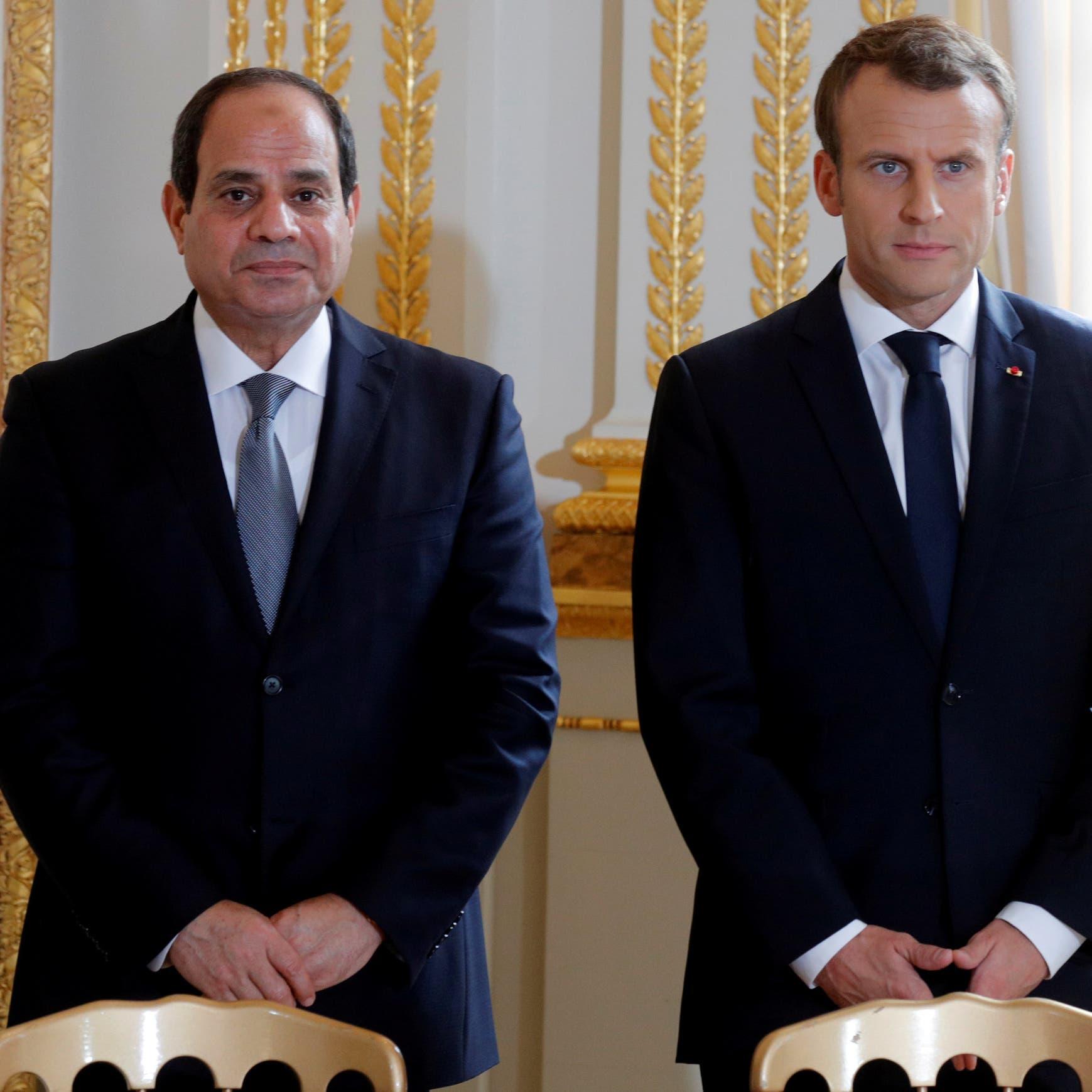 السيسي لماكرون: يجب إخراج كل المرتزقة من ليبيا