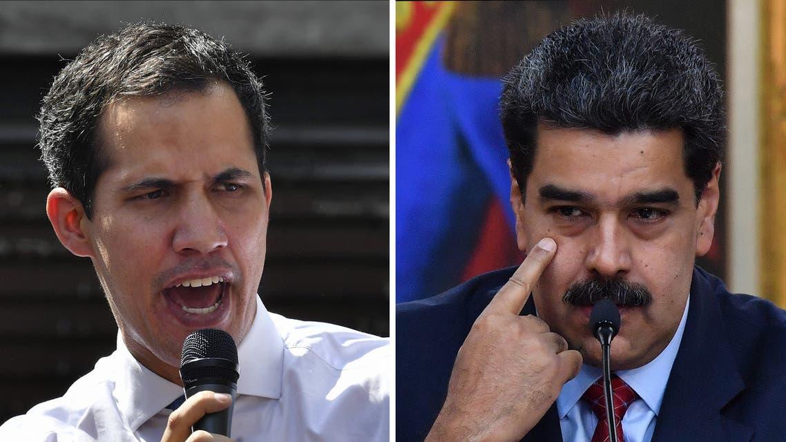 نيكولاس مادورو وخوان غوايدو
