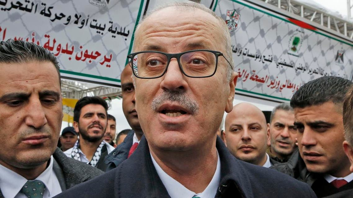 Palestinian Prime Minister Rami Hamdallah attends a ceremony to mark the opening of a medical centre in the village of Beit Ula, north of the West Bank city of Hebron on Jan. 28, 2019. (AFP)