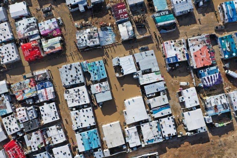 مخيم للاجئين السوريين في لبنان