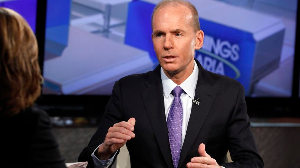 Boeing CEO Dennis Muilenburg being interviewed on the Fox Business Network, in New York. (File photo: AP)