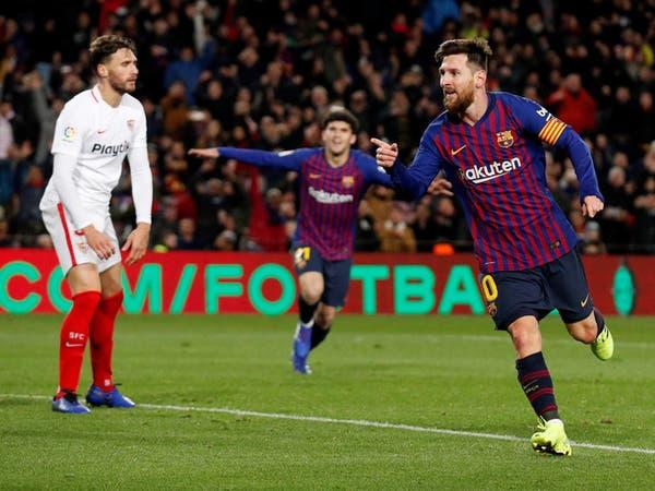 برشلونة يثأر من إشبيلية ويقصيه بسداسية في كأس إسبانيا