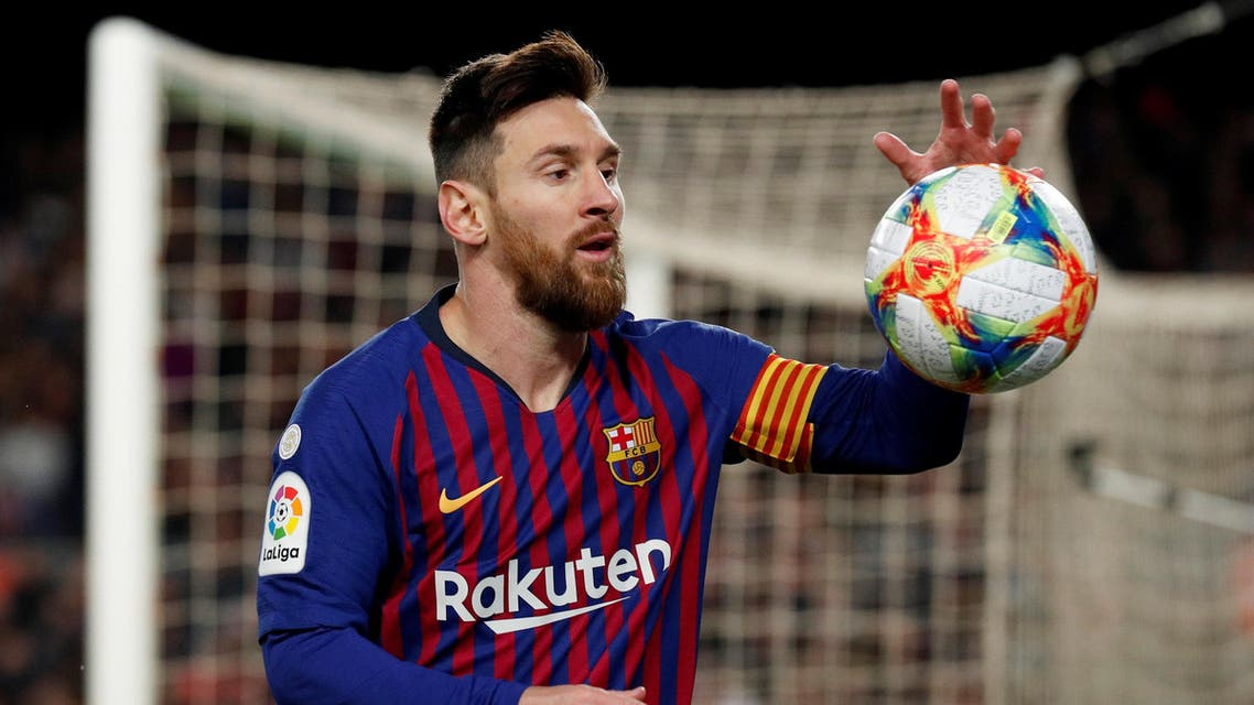 Messi during match against Sevilla on January 30, 2019. (Reuters)