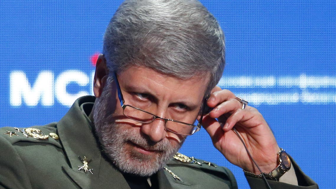 Iranian Defence Minister Amir Hatami وزير الدفاع الإيراني
