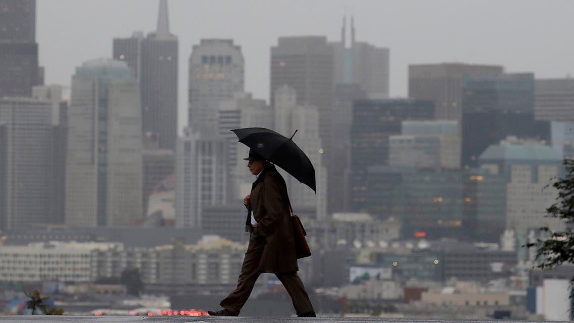 عواصف وأمطار في كاليفورنيا