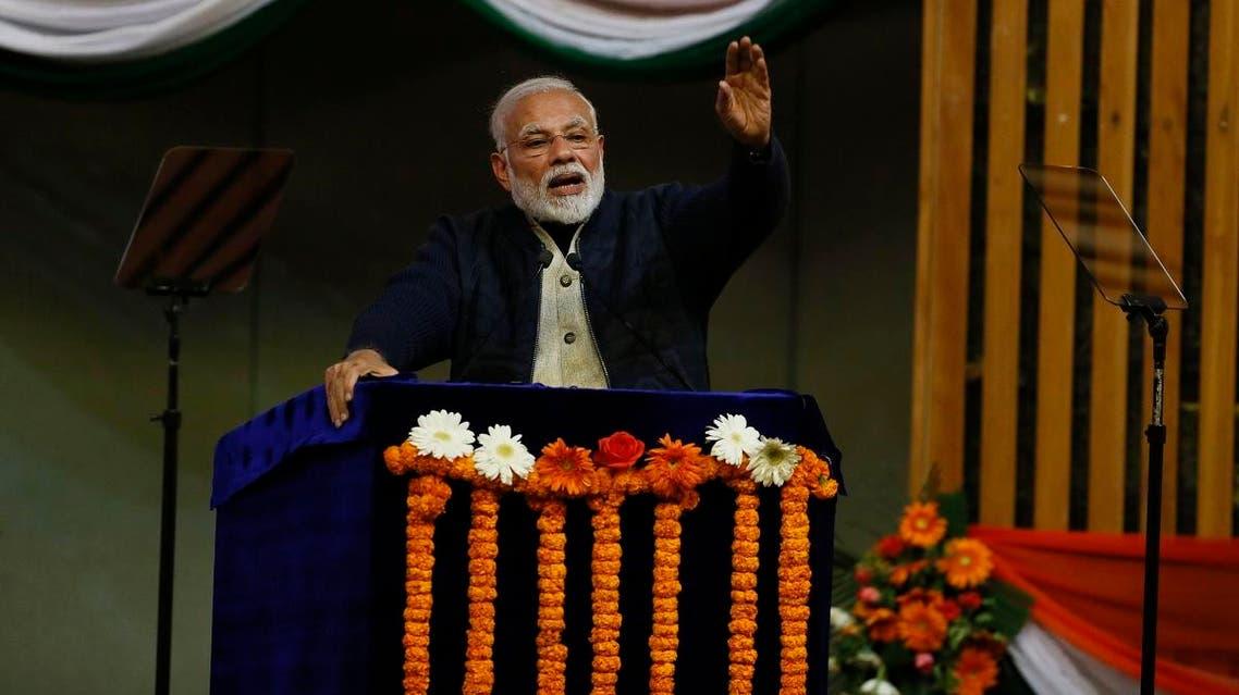 India's Prime Minister Narendra Modi in Kashmir (AP)