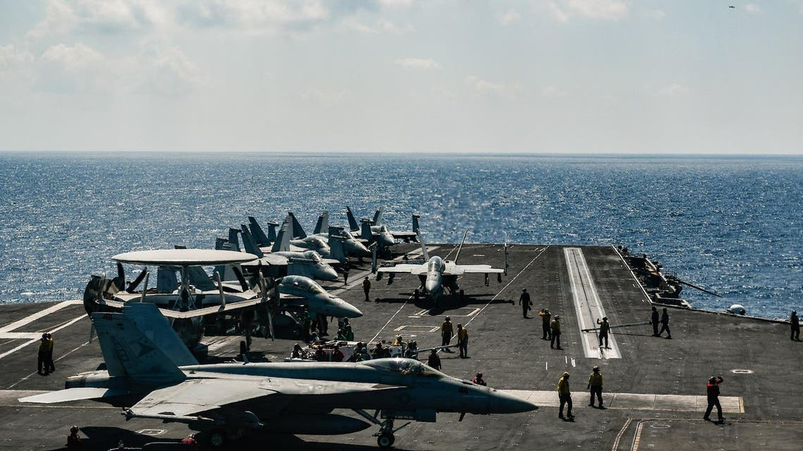 Syrian state media said US-led coalition jets hit a Syrian army position near the battle front against an ISIS pocket late Saturday, causing damage and injuries. (File photo: AFP)
