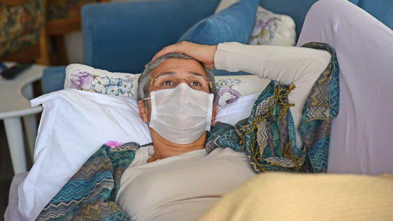 ليلى غوفن خلال إضرابها عن الطعام