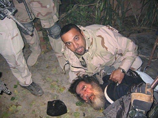 القاء القبض على صدام