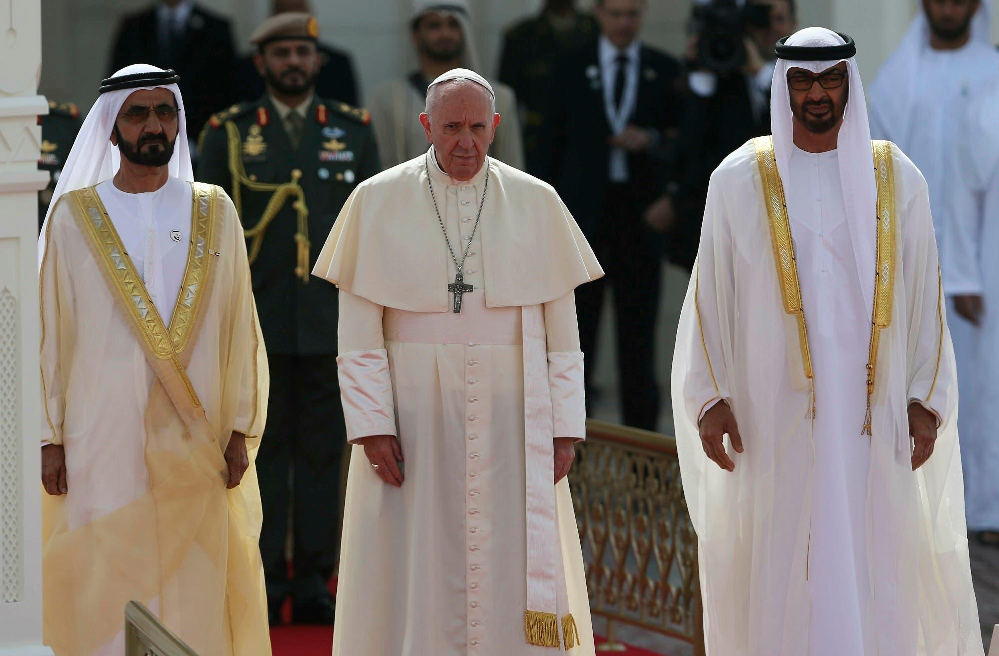 Pope Francis UAE (AP)