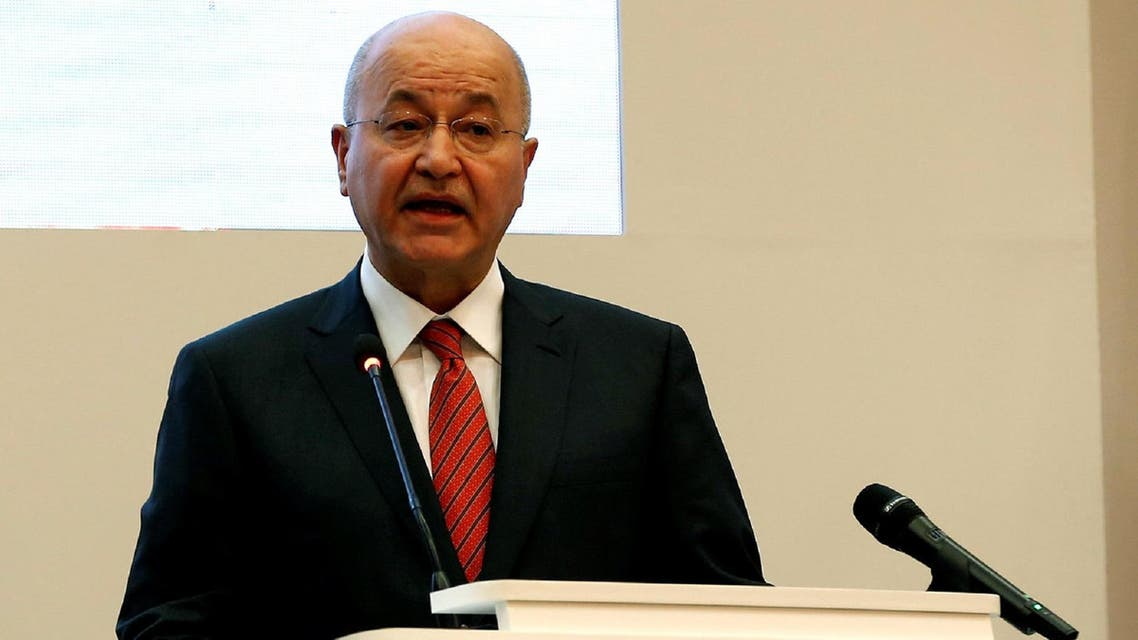 "Barham Salih said that US President Donald Trump did not ask Iraq's permission for US troops stationed there to ""watch Iran."" (File photo: Reuters)"