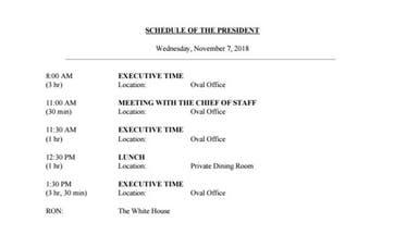 البيت الأبيض ينتقد تسريب جدول أعمال ترمب