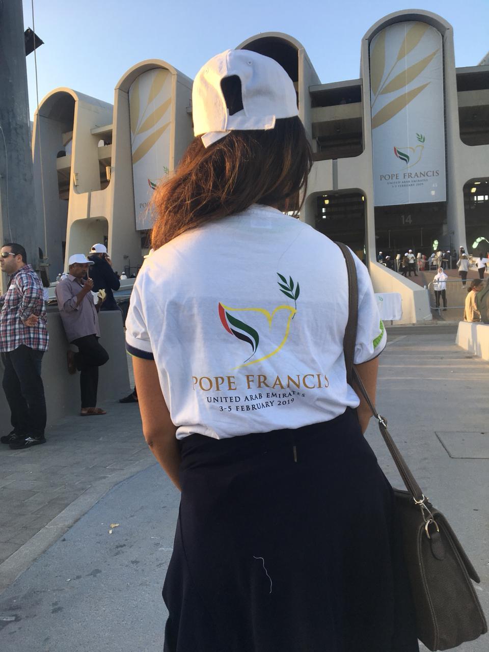 Devotees gathered for the Papal mass in Abu Dhabi on February 5, 2019. (Al Arabiya)