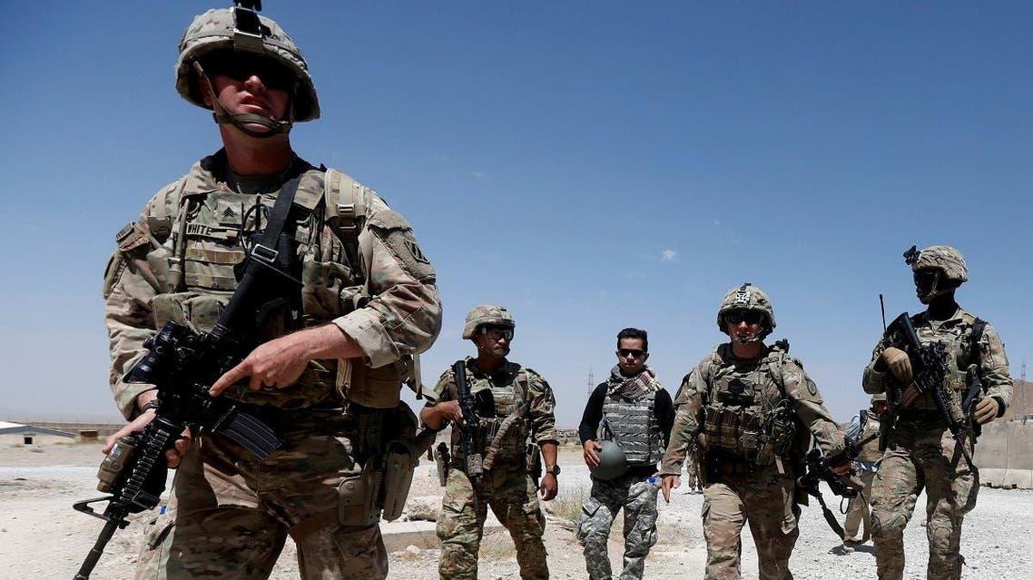 U.S. troops patrol at an Afghan National Army (ANA) Base in Logar province, Afghanistan. (Reuters)