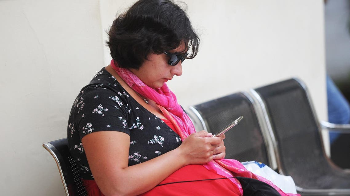 British tourist Auj-e Taqaddas before her trial at a court in Denpasar on Indonesia's island of Bali on February 6, 2019. (AFP)